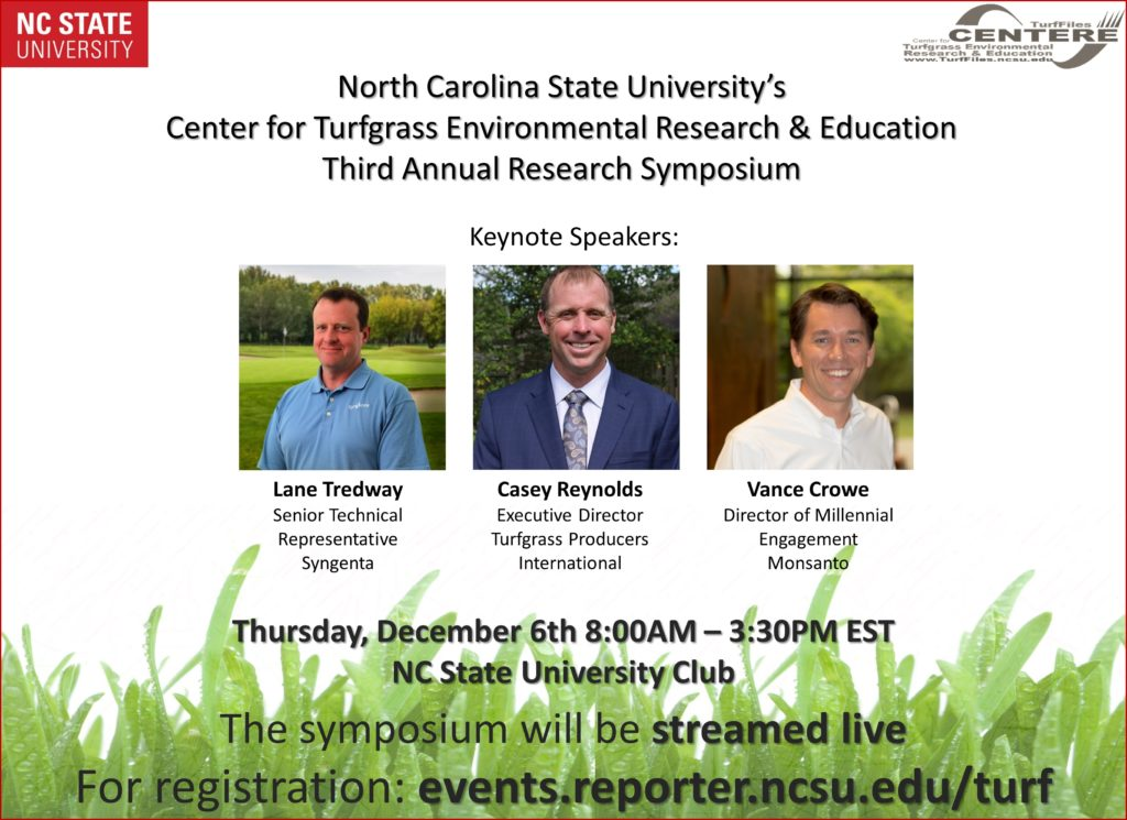 Turf Research Symposium flyer image