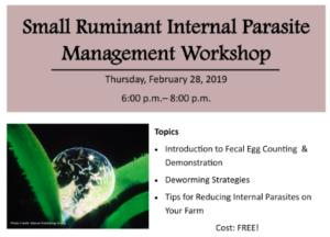 SR Internal Parasite Mgt Workshop