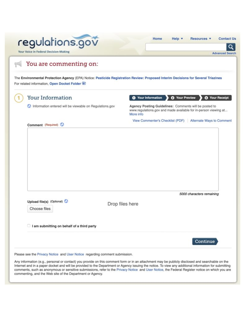 epa comment website