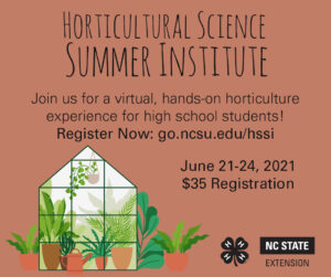 Cover photo for Horticultural Science Summer Institute: Registration Open!